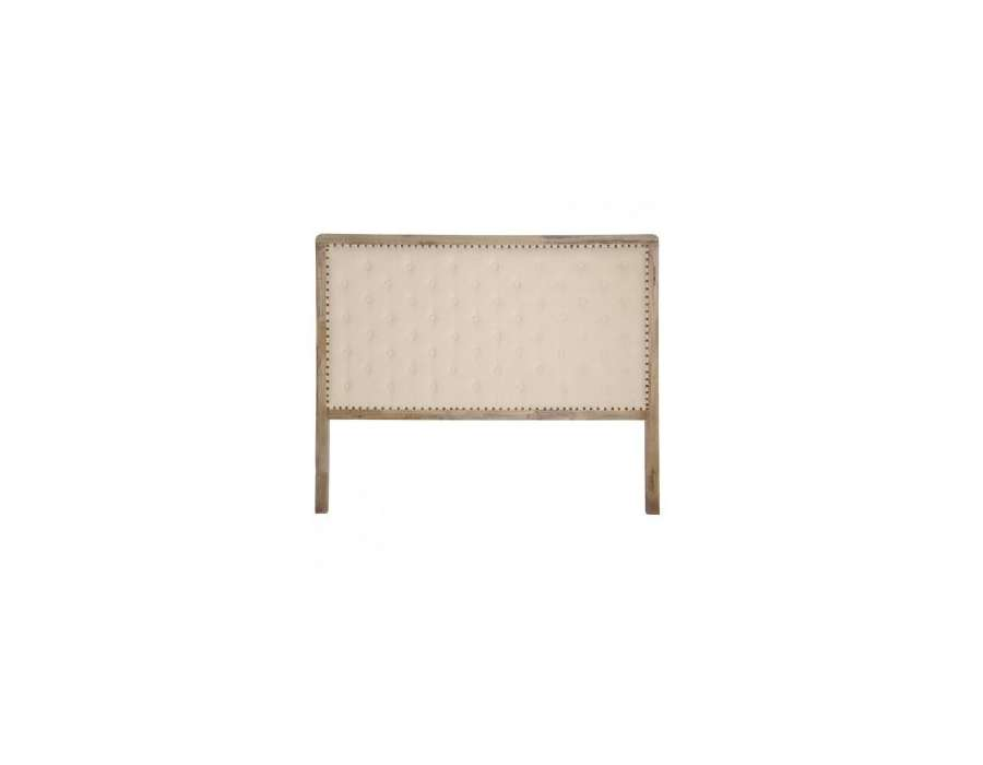t te de lit 160 capitonn e beige rectangulaire. Black Bedroom Furniture Sets. Home Design Ideas