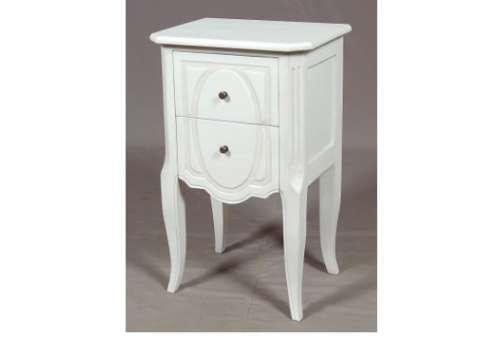 Vu dans la presse et la t l vision le grenier de - Table de chevet baroque blanche ...