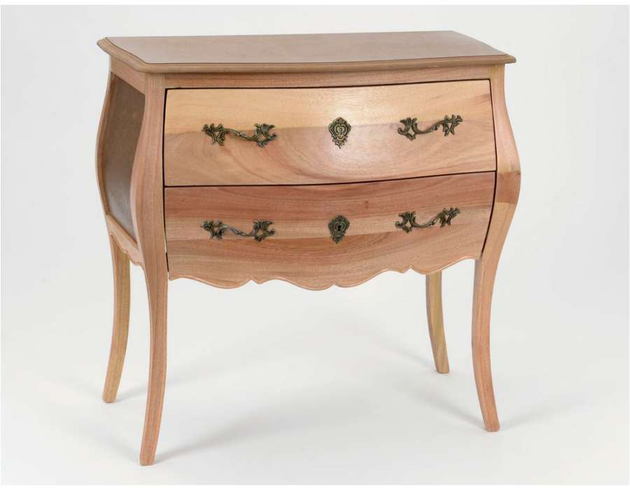 commode peindre en bois brut avec deux tiroirs. Black Bedroom Furniture Sets. Home Design Ideas