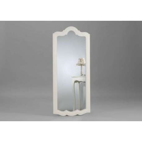 Grand miroir blanc 150 cm forme rectangulaire avec arrondi for Grand miroir large