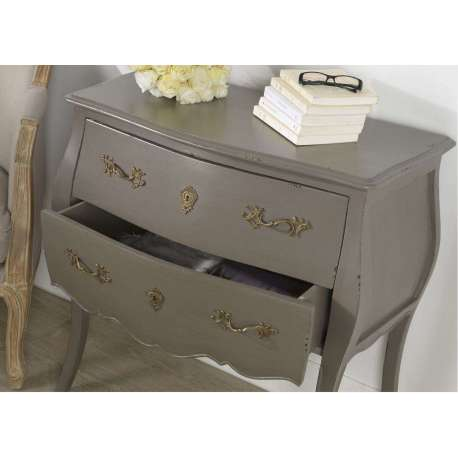 commode blanche et taupe