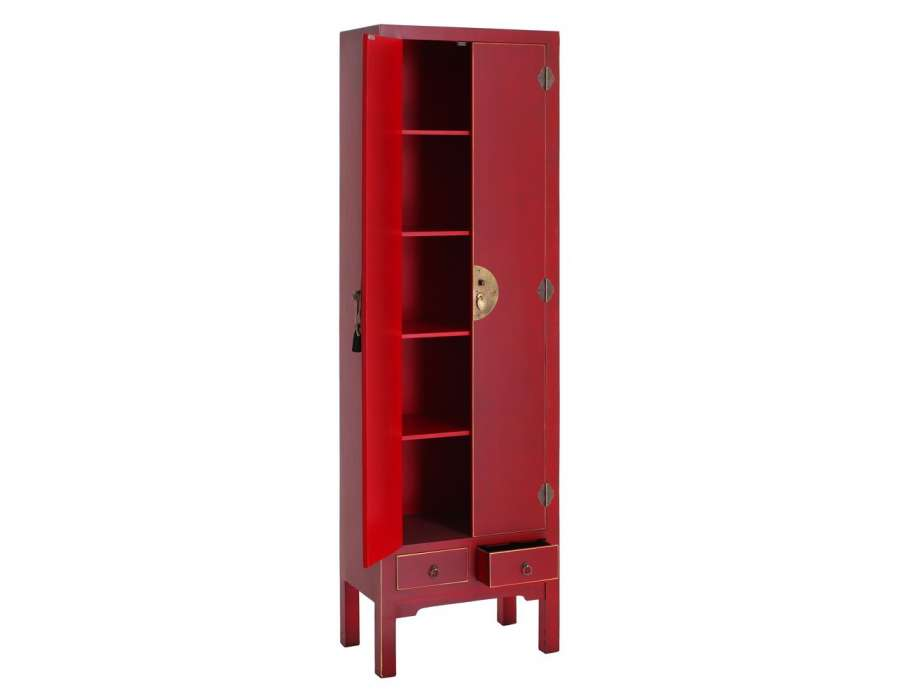 Armoire rouge 2 portes Chine