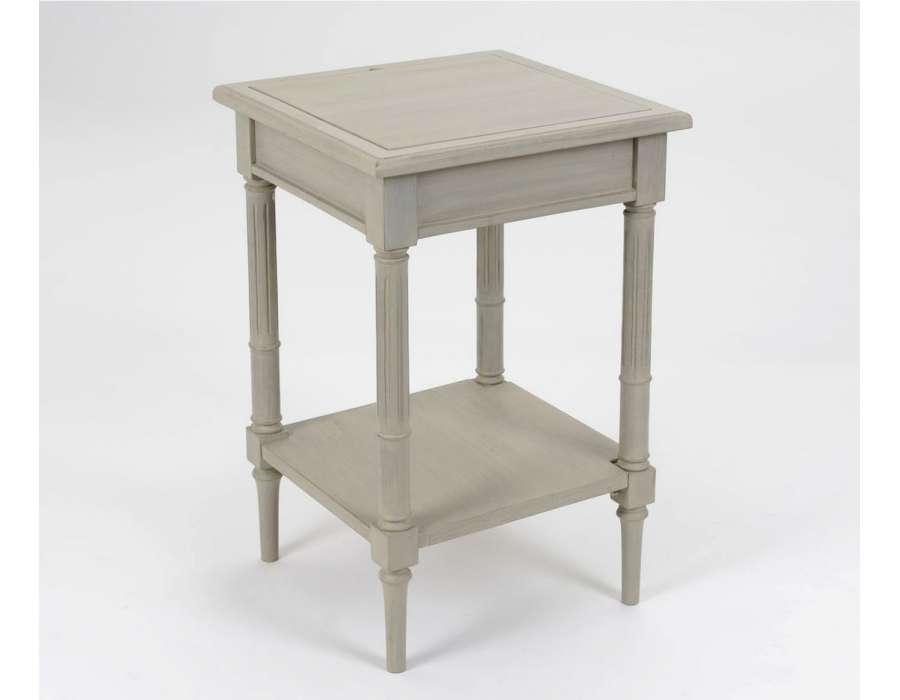 Table jeux déchec bois cérusé Amadeus
