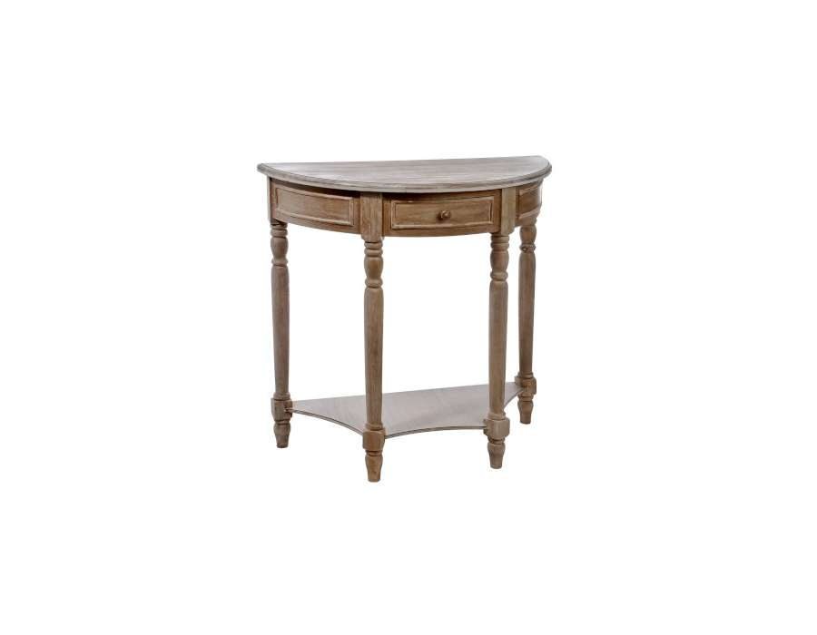 console bois demi lune crus with console petite largeur. Black Bedroom Furniture Sets. Home Design Ideas
