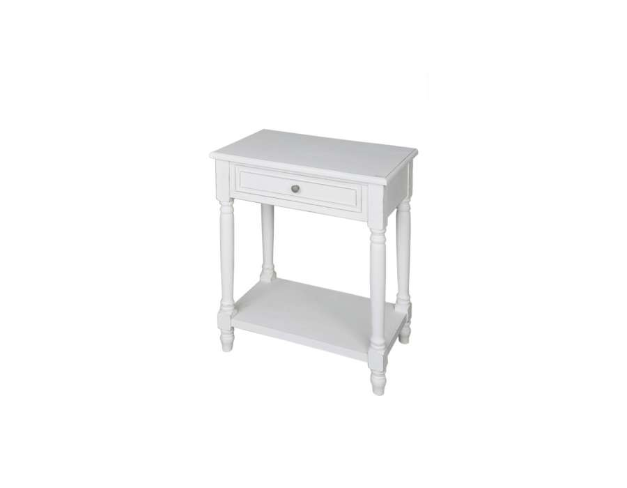 Table Chevet blanche 1 tiroir Marie