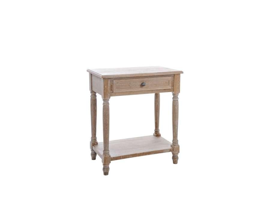 Large table de nuit bois ch ne clair rustique jolipa - Table de chevet chene clair ...