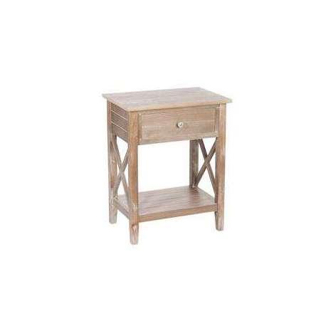 Table de nuit bois naturel rustique meuble de chambre jolipa - Table de nuit petite largeur ...