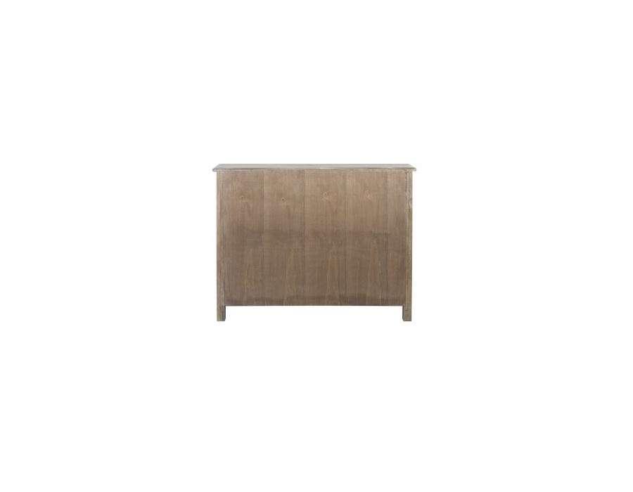 Commode bois pas chere 3 tiroirs style rustique meuble j line - Commode bois blanchi ...
