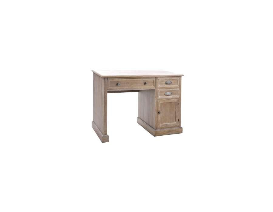 Bureau bois large plateau avec porte jolipa - Bureau classique ...