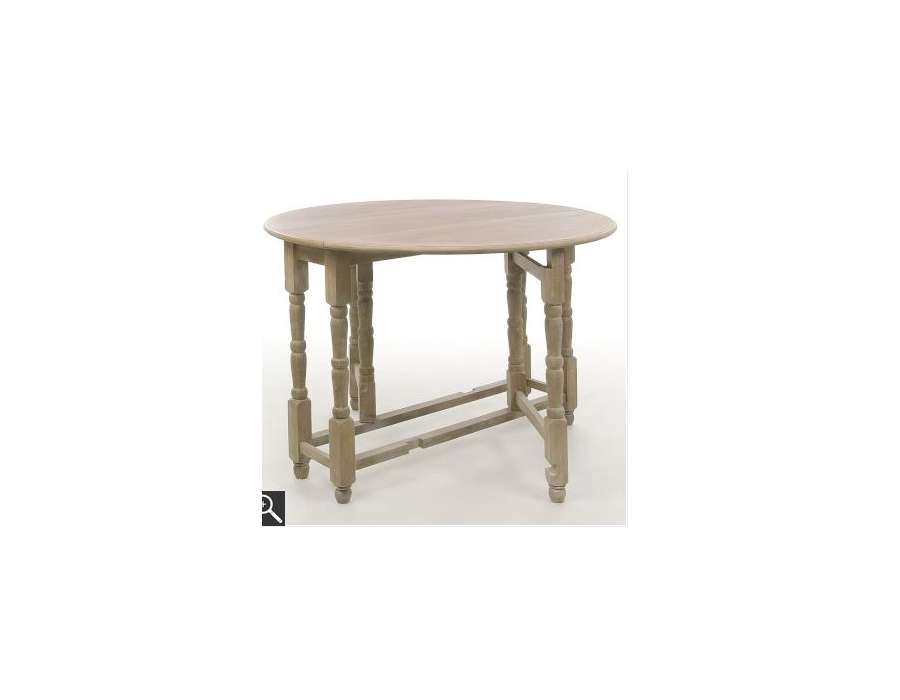 Table bois pliable ronde pas chere for Table a manger pliable