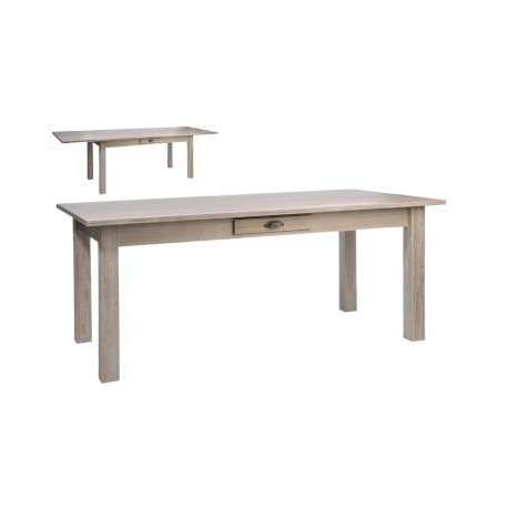 Grande table bois naturel 180 cm