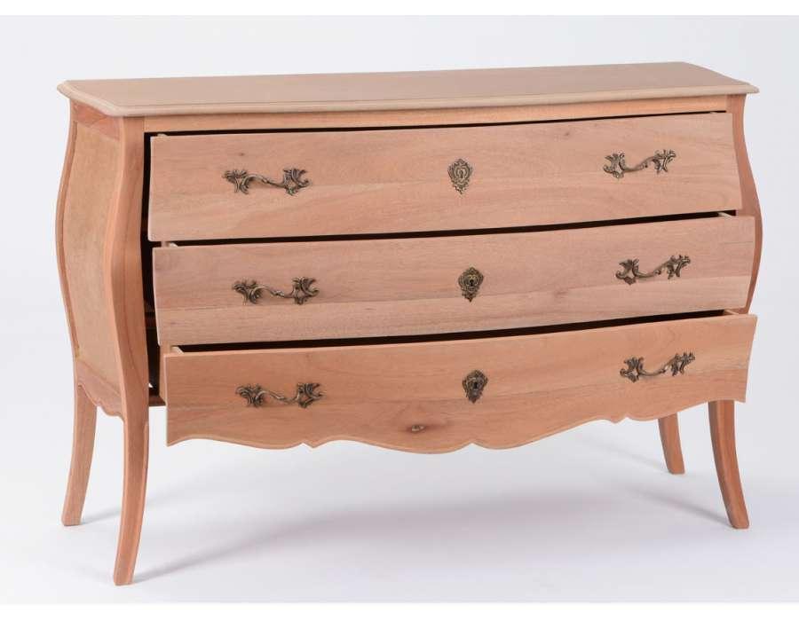 Commode peindre en bois brut de style baroque - Grande commode chambre ...