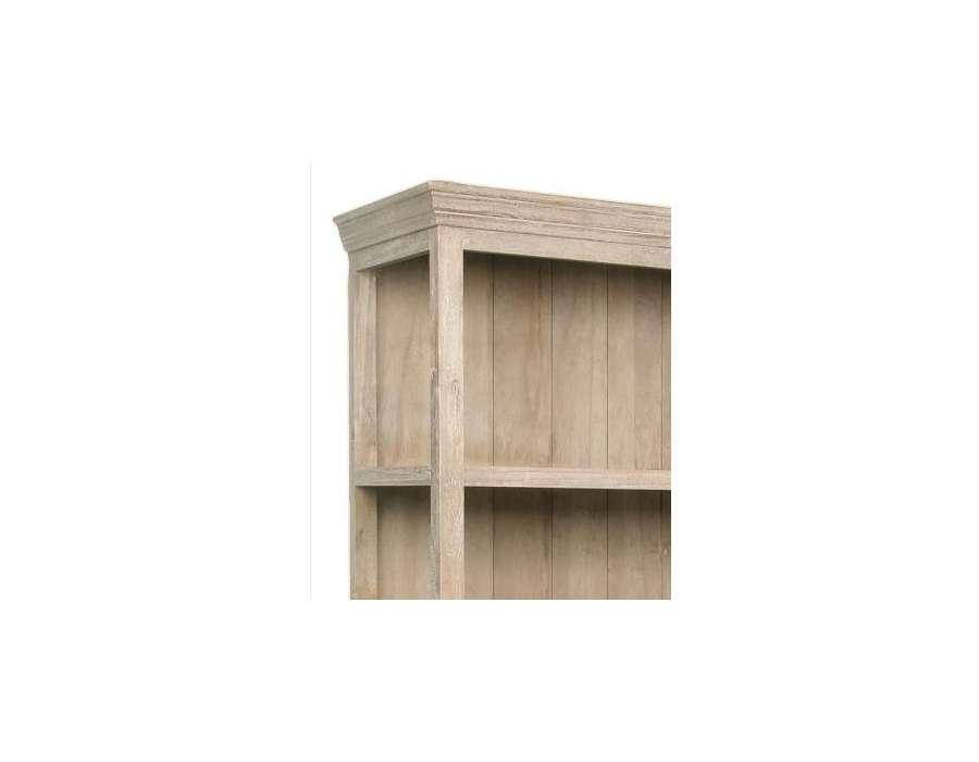 Bibliothèque bois pin cérusé