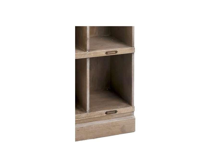 Tag re bois avec casiers pour bureau - Etageres casiers rangement ...