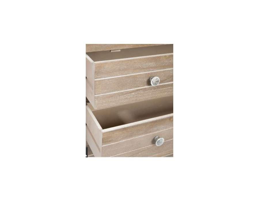 Tag re biblioth que bois c rus avec 3 tiroirs pas chere - Bibliotheque etagere bois ...