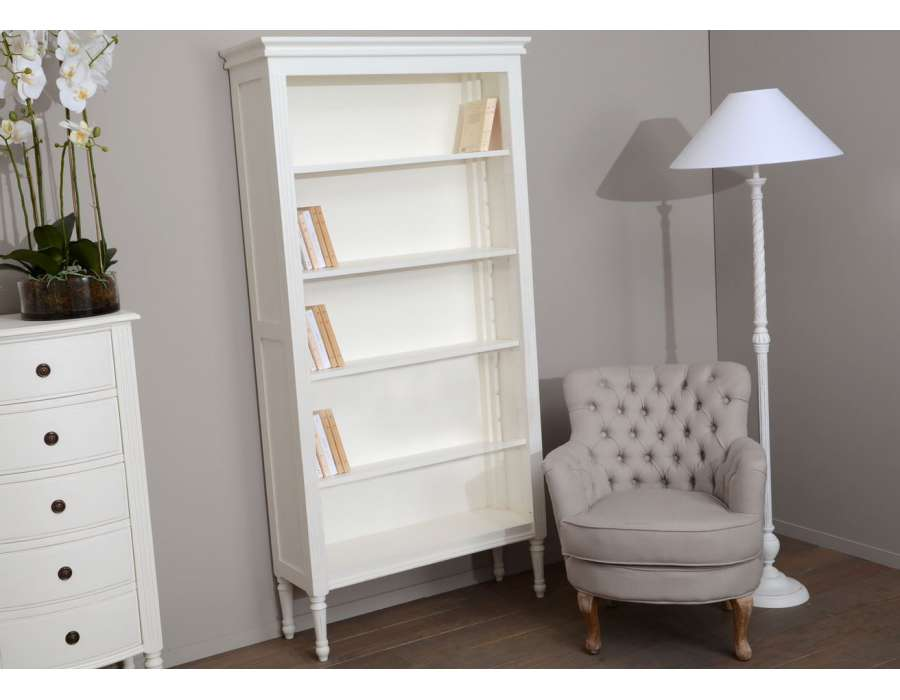 biblioth que blanche pas chere style romantique. Black Bedroom Furniture Sets. Home Design Ideas