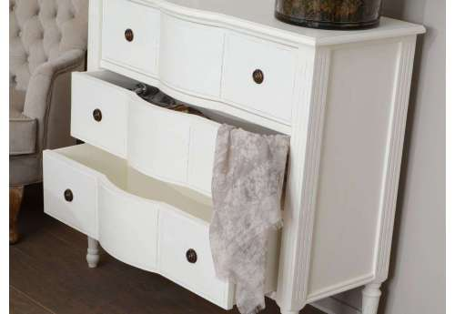 Commode Blanche 3 tiroirs Agathe