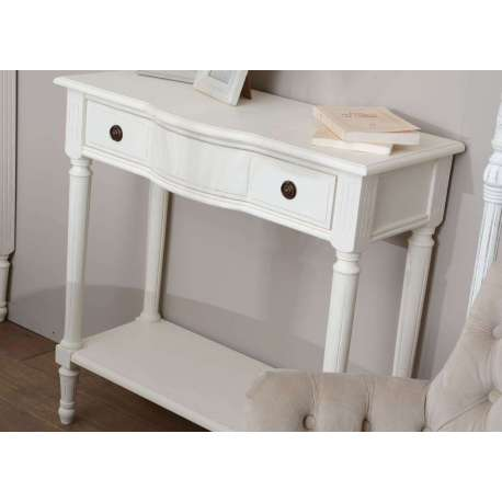 Console bois blanc 1 tiroir Agathe