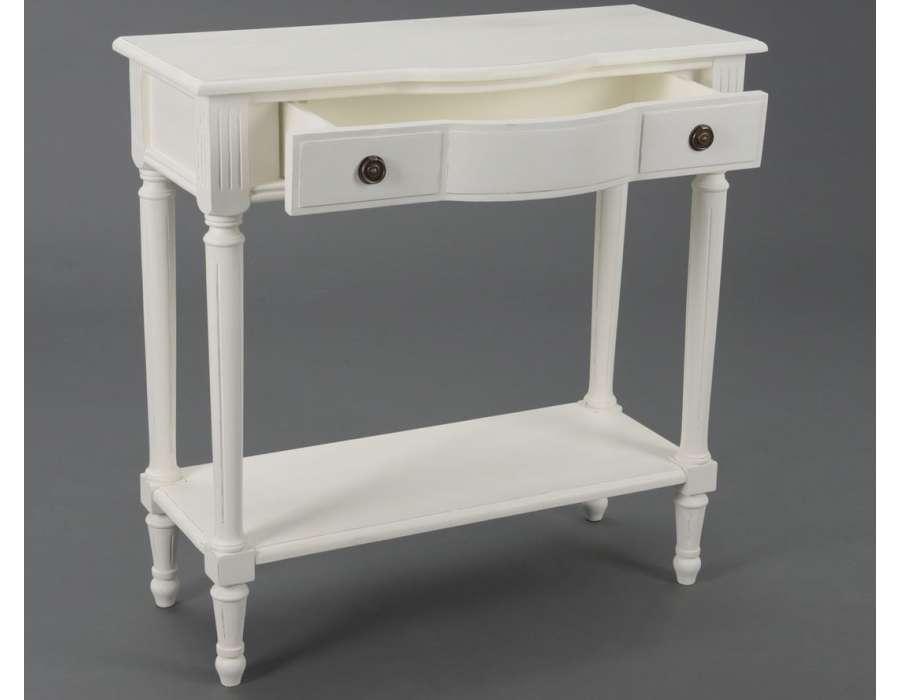 console bois blanc avec tiroir pas ch re amadeus. Black Bedroom Furniture Sets. Home Design Ideas
