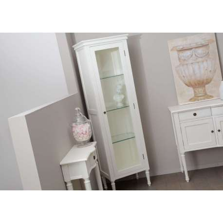 armoire vitr e blanche 1porte pas chere. Black Bedroom Furniture Sets. Home Design Ideas