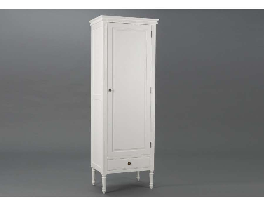 armoire blanche penderie avec 1 porte armoire d 39 entr e. Black Bedroom Furniture Sets. Home Design Ideas