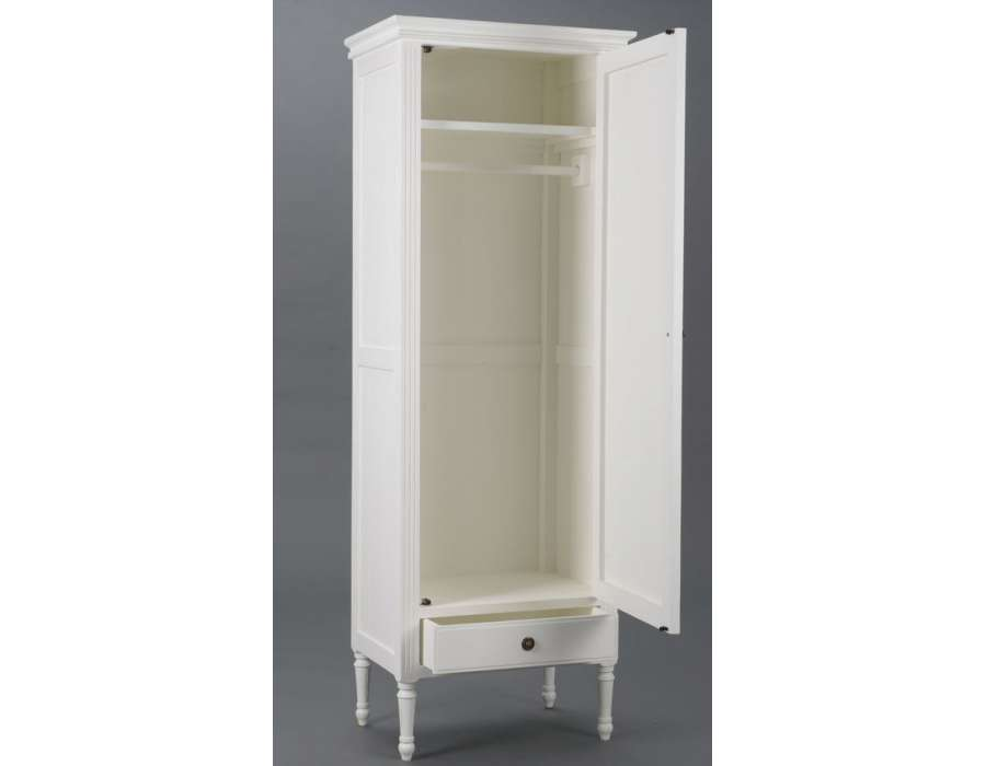 armoire blanche penderie avec 1 porte armoire d 39 entr e amadeus. Black Bedroom Furniture Sets. Home Design Ideas