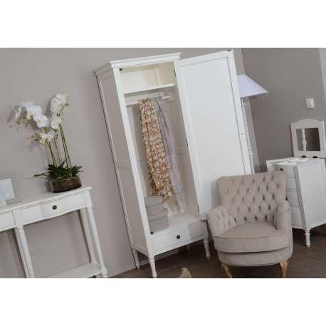 Armoire blanche penderie avec 1 porte armoire d 39 entr e amadeus - Penderie entree maison ...