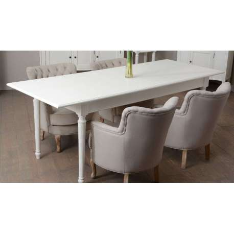 Grande table blanche chic 160 cm