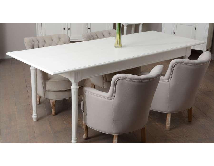 grande table blanche pas chère 160 cm Amadeus