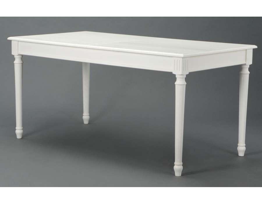 grande table blanche pas ch re 160 cm amadeus