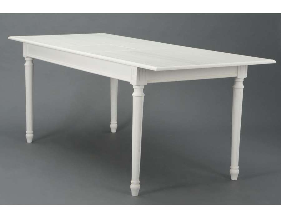 Grande table blanche pas ch re 160 cm amadeus for Table 160 cm avec rallonge