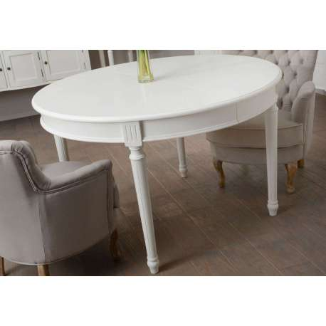Table ronde blanche pas ch re 120 cm amadeus for Table a manger blanche avec rallonge