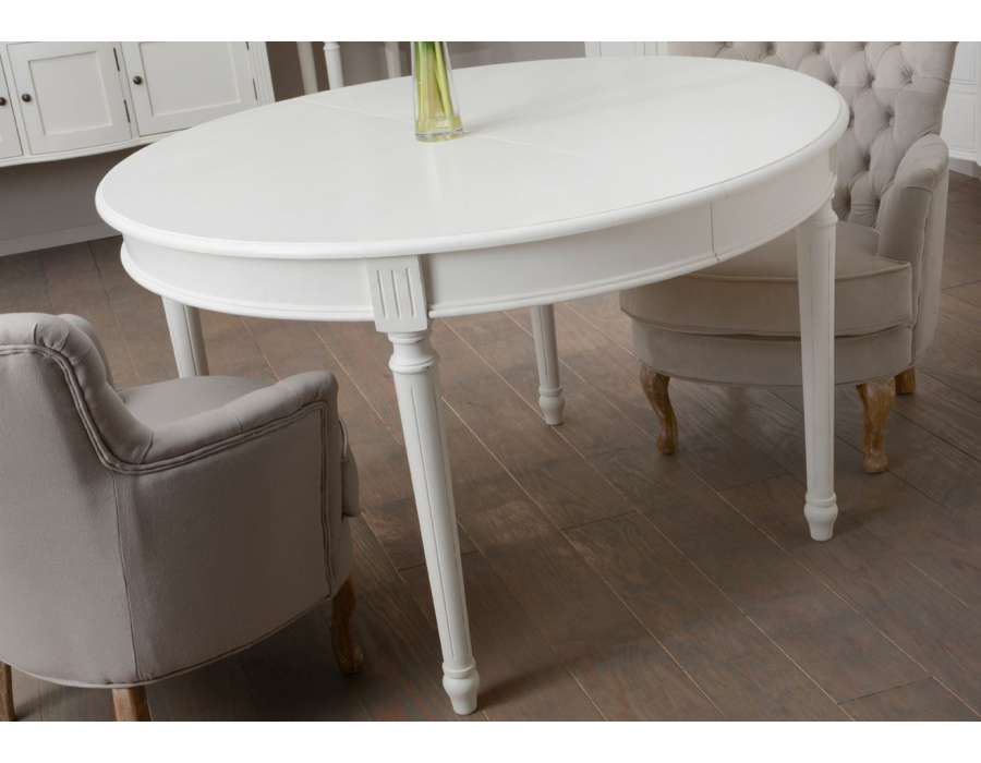 Table ronde blanche pas ch re 120 cm amadeus - Table basse ronde pas chere ...