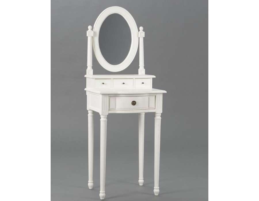 meuble coiffeuse blanche directoire pour petite chambre. Black Bedroom Furniture Sets. Home Design Ideas