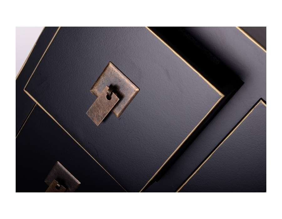 Meuble à tiroirs chinois noir