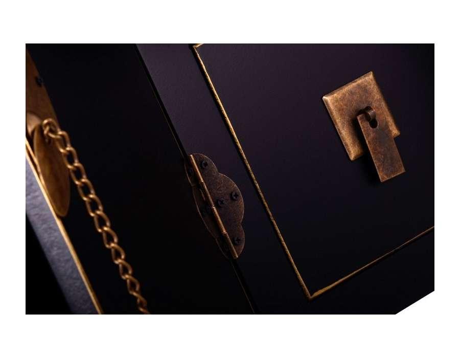 meuble de rangement chinois noir avec 8 tiroirs. Black Bedroom Furniture Sets. Home Design Ideas