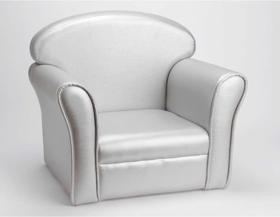 fauteuil club pour enfant argent de la marque amadeus. Black Bedroom Furniture Sets. Home Design Ideas