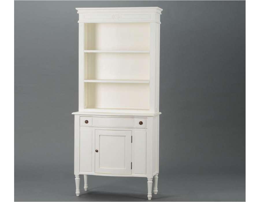 Vaisselier blanc avec etag re et buffet blanc pas cher - Vaisselier blanc et bois ...