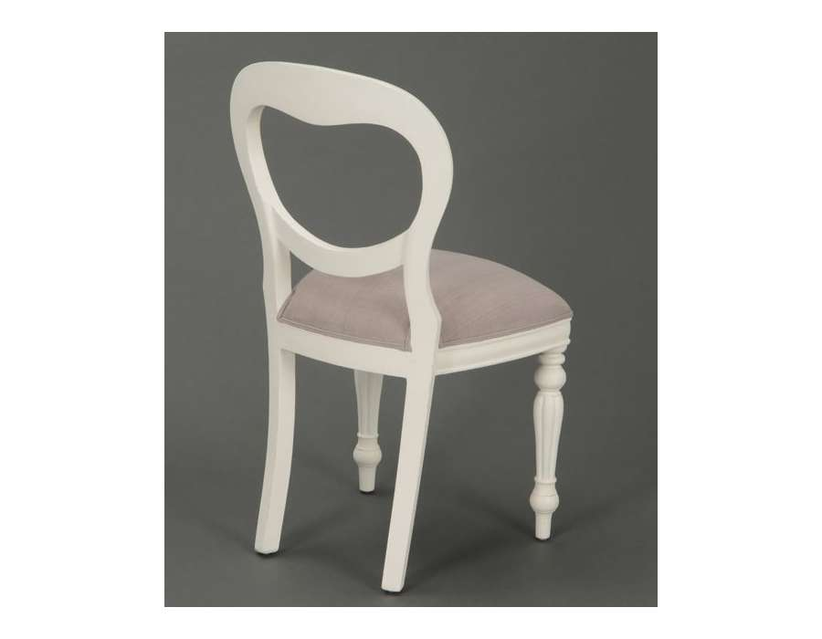 Chaise médaillon blanche Agathe