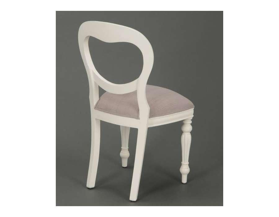 Chaise m daillon blanche romantique for Chaises medaillon soldes