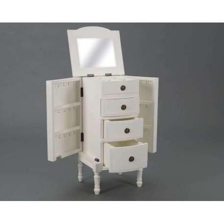 meuble bijoux blanc directoire pour petite chambre. Black Bedroom Furniture Sets. Home Design Ideas