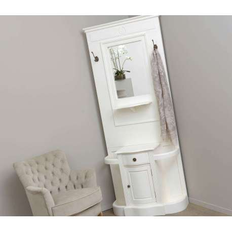 meuble dentre blanc avec miroir