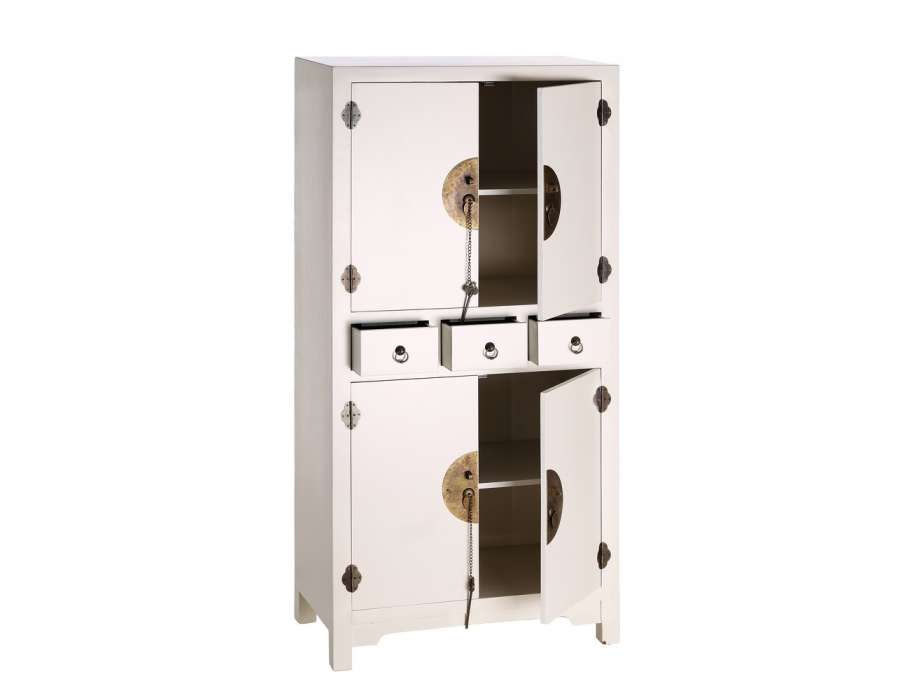 Petite armoire chinoise blanche