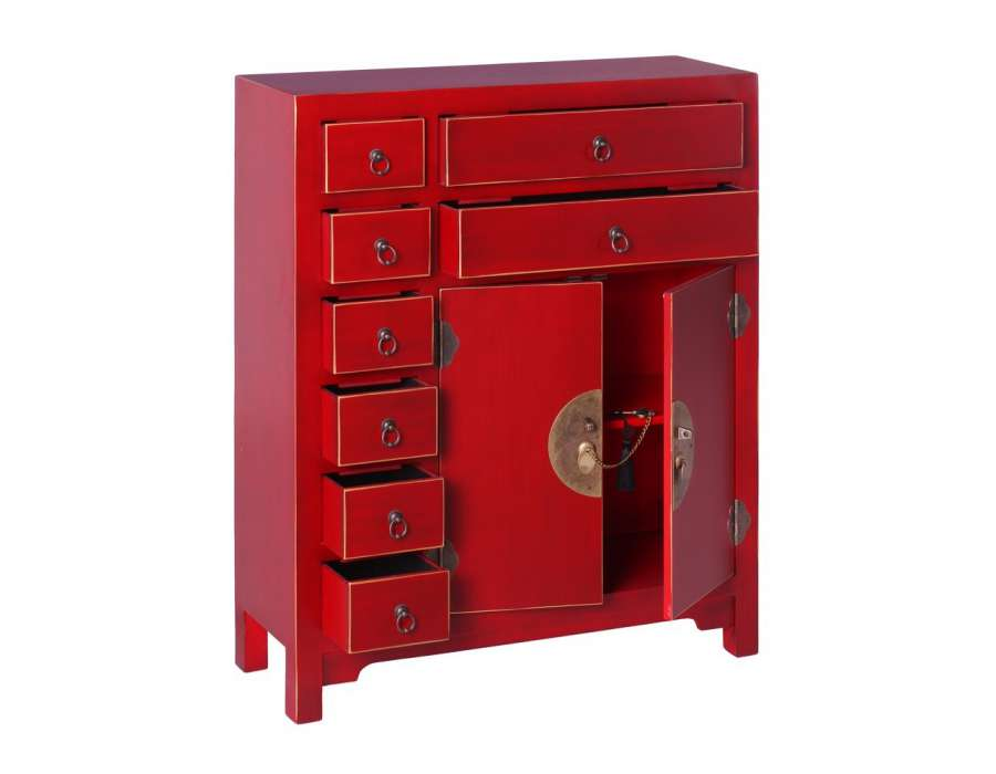 petit buffet chinois rouge meuble chinois pas cher. Black Bedroom Furniture Sets. Home Design Ideas