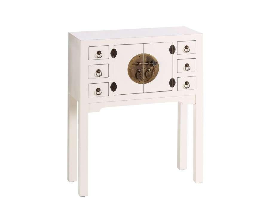 Petite console d'entrée chinoise blanche
