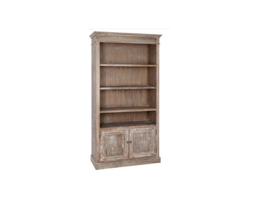 Meuble bibliothèque bois cérusé Jolipa