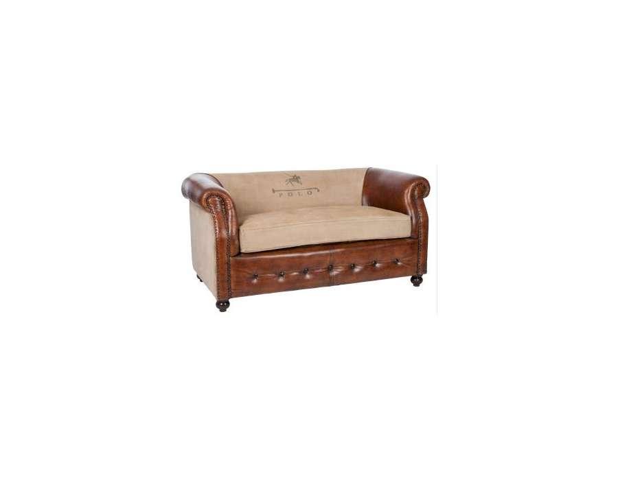 Canapé anglais cuir