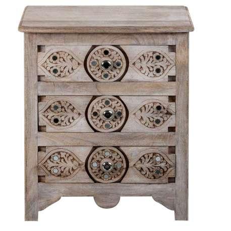 table de chevet bois manguier massif style oriental. Black Bedroom Furniture Sets. Home Design Ideas