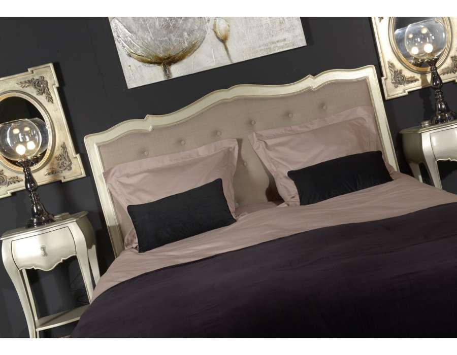 Tête de lit Amadeus argentée