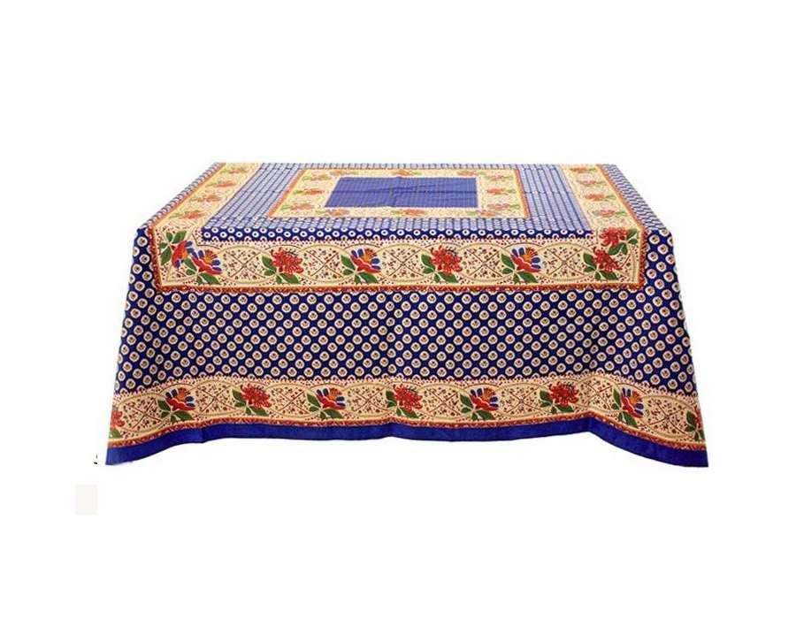 grande nappe rectangulaire proven ale motifs bleus et jaunes. Black Bedroom Furniture Sets. Home Design Ideas